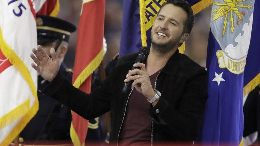 Luke Bryan Sings National Anthem at Super Bowl LI